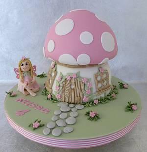Fairy Toadstool Cake - Cake by Deborah