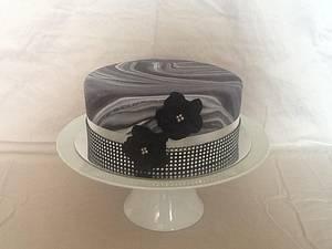 "8"" Marbled bling Birthday cake  - Cake by Kim Jury"