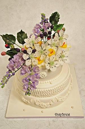 BIRTHDAY FLOWER CAKE - Cake by Anna