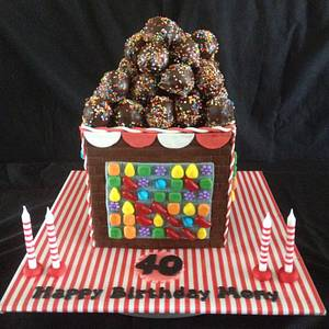 Candy Crush 40th - Cake by Lesley