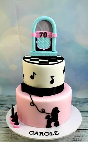 Rock n Roll birthday cake - Cake by Kake Krumbs