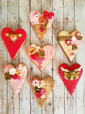 Valentine's day cookies by DI ART  - Cake by DI ART