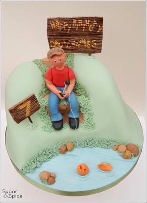 Gone Fishing ... - Cake by Sugargourmande Lou