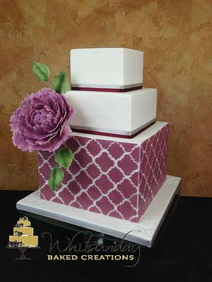 Quatrefoil - Cake by Whitsunday Baked Creations - Deb Smith