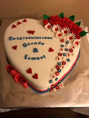 Engagement Heart - Cake by Julia
