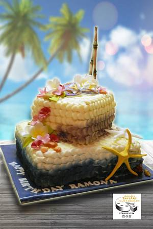 holiday birthdaycake - Cake by Aurelia'sTartArt