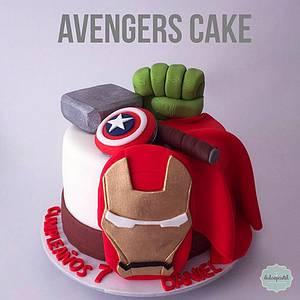 Torta de Superhéroes - Avengers Cake - Cake by Dulcepastel.com