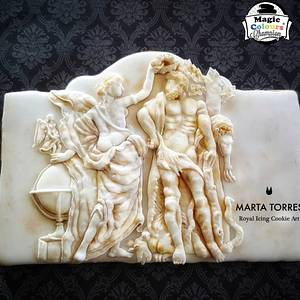 Hercules..... my sweet base relieve for Greco Roman - An International Cake  Challenge - Cake by The Cookie Lab  by Marta Torres