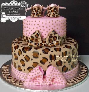 Leopard Baby Shower - Cake by Sugar Sweet Cakes