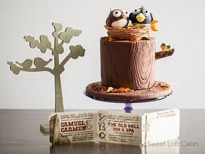 Birdie Wedding Cake - Cake by Heidi