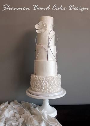 Winter's Love Wedding Cake - Cake by Shannon Bond Cake Design