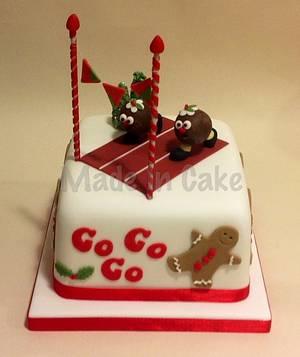 Racing Christmas puddings! - Cake by June