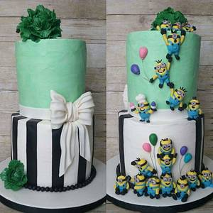 Two sided minon cake!!! - Cake by cakemomma1979