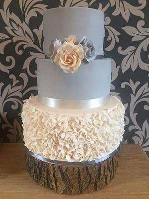 Ruffle wedding cake  - Cake by jen lofthouse