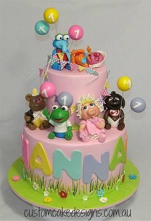Baby Muppets 1st Birthday Cake - Cake by Custom Cake Designs
