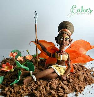 African Fairy Queen - Cake by Carrie-Anne Dallas