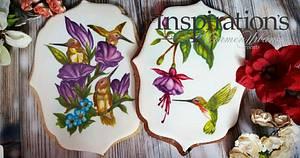Hand painted Hummingbirds - Cake by Inspiration by Carmen Urbano