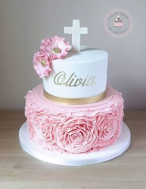 Rose ruffle  - Cake by Sara's House of Cupcakes