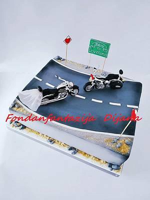 Biker wedding cake - Cake by Fondantfantasy