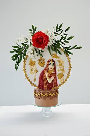 #spectacularpakistan bride and jasmins - Cake by Catalina Anghel azúcar'arte