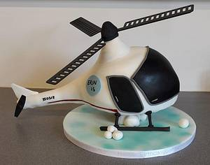 Helicopter cake - Cake by Putty Cakes