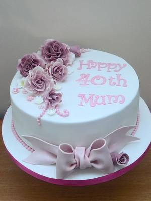 Rose cake for a mum - Cake by Mother and Me Creative Cakes