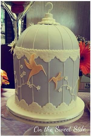 Hummingbird Birdcage - Cake by Christy