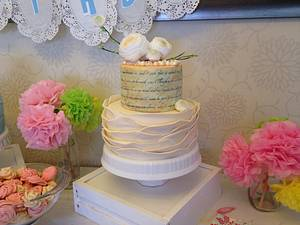 Ivory and Pearls - Cake by Donna