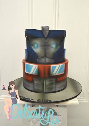 Airbrushed Optimus Prime - Cake by Delicate-Lee