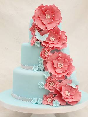 Ellen ruffle rose - Cake by Cakes By Heather Jane