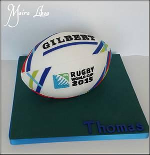 Rugby ball - Cake by Maira Liboa