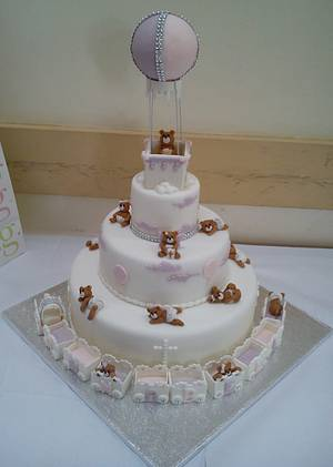 Christening cake for Annabelle - Cake by NooMoo