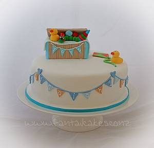 1st birthday toy box cake - Cake by Fantail Cakes