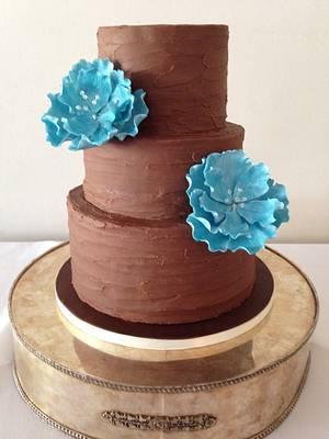 Chocolate Wedding Cake - Cake by Sally Jane Cake Design