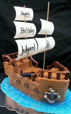 Avast! It's a Pirate Ship Cake! - Cake by Kristi