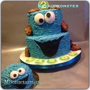 Cookie monster... - Cake by Mooistetaart4u - Amanda Schreuder