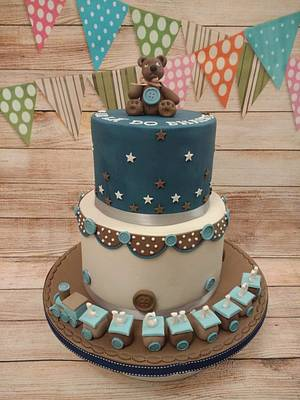 Christmas Eve Christening Cake (as  - Cake by K Cakes
