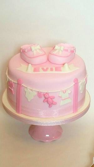 pink booties - Cake by Cakey Barmy