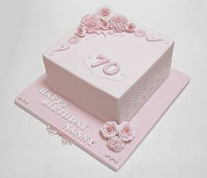 Pastel Pink Victoriana - Cake by The Chain Lane Cake Co.