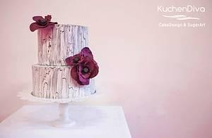 Weathered paint effect - Cake by KuchenDiva