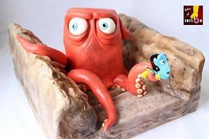 Hank octopus and Dory - Cake by Floren Bastante / Dulces el inflón