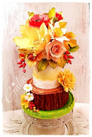 THE COLORS OF AUTUMN - Cake by Galya's Art