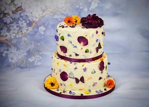 Edible Confetti Wedding Cake - Cake by Rosie's Bakes