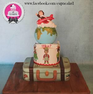 Little traveler baby shower cake - Cake by Danielle Lechuga