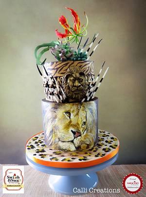African Birthday Cake  - Cake by Calli Creations