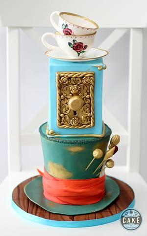 Alice in Wonderland Baby Shower Cake - Cake by Cake by Sarah Jane