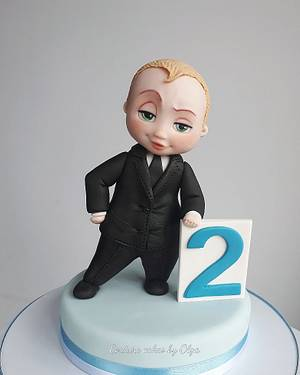 Boss Baby - Cake by Couture cakes by Olga