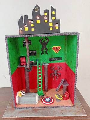AVENGERS HOUSE  - Cake by Shally33