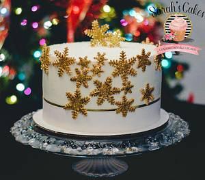 Snow flake cake - Cake by Sarah's Cakes