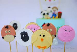 Farmyard Cookie Pops! - Cake by Leah Jeffery- Cake Me To Your Party